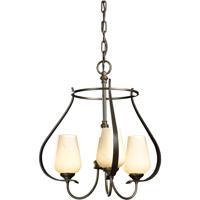 Hubbardton Forge 103047-1005 Flora 3 Light 19 inch Bronze Chandelier Ceiling Light