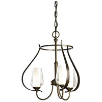 Hubbardton Forge 103047-1006 Flora 3 Light 19 inch Bronze Chandelier Ceiling Light