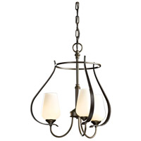 Hubbardton Forge 103047-1007 Flora 3 Light 19 inch Bronze Chandelier Ceiling Light
