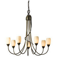 Hubbardton Forge 103049-1004 Flora 7 Light 25 inch Bronze Chandelier Ceiling Light