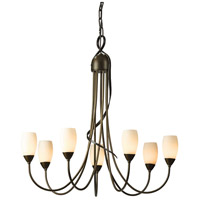 Hubbardton Forge 103049-1005 Flora 7 Light 25 inch Bronze Chandelier Ceiling Light