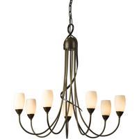 Hubbardton Forge 103049-1005 Flora 7 Light 25 inch Bronze Chandelier Ceiling Light
