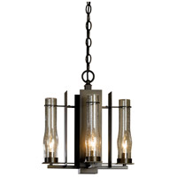 Hubbardton Forge 103250-1001 New Town 4 Light 14 inch Bronze Chandelier Ceiling Light