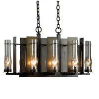 Hubbardton Forge 103280-1001 New Town 8 Light 14 inch Bronze Chandelier Ceiling Light Small