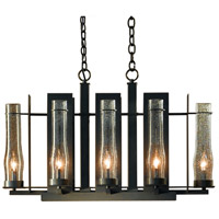 Hubbardton Forge 103285-1002 New Town 8 Light 17 inch Dark Smoke Chandelier Ceiling Light Large