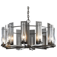 Hubbardton Forge 103290-1002 New Town 10 Light 30 inch Dark Smoke Chandelier Ceiling Light