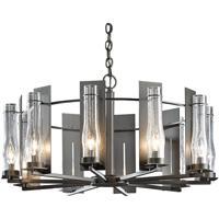 Hubbardton Forge 103290-1002 New Town 10 Light 30 inch Dark Smoke Chandelier Ceiling Light