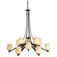 Hubbardton Forge 104107-1007 Ribbon 12 Light 37 inch Dark Smoke Chandelier Ceiling Light