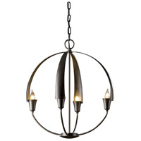 Hubbardton Forge 104201-1003 Cirque 4 Light 19 inch Dark Smoke Chandelier Ceiling Light Small