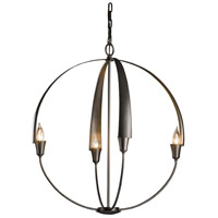 Hubbardton Forge 104203-1003 Cirque 4 Light 25 inch Dark Smoke Chandelier Ceiling Light Large