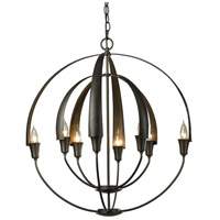 Hubbardton Forge 104205-1003 Double Cirque 8 Light 25 inch Dark Smoke Chandelier Ceiling Light thumb