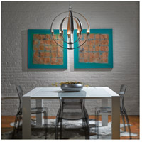 Hubbardton Forge 104205-1003 Double Cirque 8 Light 25 inch Dark Smoke Chandelier Ceiling Light 104205-SKT-07_3.jpg thumb
