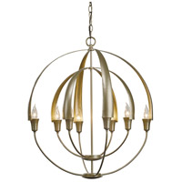 Double Cirque 8 Light 25 inch Soft Gold Chandelier Ceiling Light