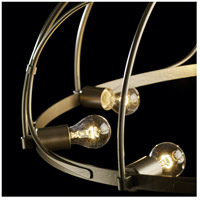 Hubbardton Forge 104220-1007 Arbor 8 Light 35 inch Soft Gold Chandelier Ceiling Light