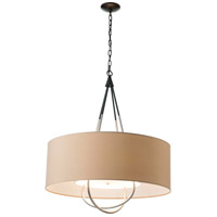 Hubbardton Forge 104230-1121 Loop 4 Light 28 inch Black with Vintage Platinum Pendant Ceiling Light