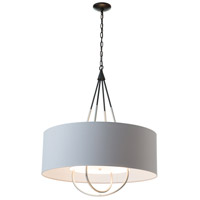 Hubbardton Forge 104230-1409 Loop 4 Light 28 inch Black with Vintage Platinum Pendant Ceiling Light