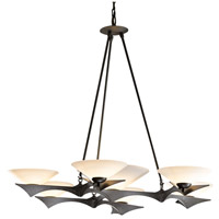Hubbardton Forge 104325-1004 Moreau 7 Light 40 inch Dark Smoke Chandelier Ceiling Light