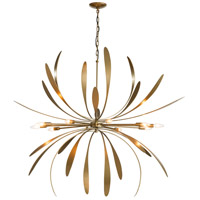 Hubbardton Forge 104355-1008 Dahlia 10 Light 49 inch Gold Pendant Chandelier Ceiling Light Large