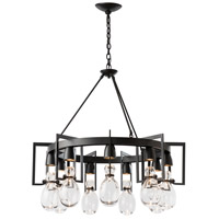 Hubbardton Forge 104360-1004 Apothecary 9 Light 35 inch Black Chandelier Ceiling Light Circular