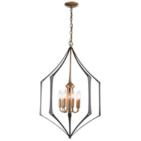 Hubbardton Forge 105025-1044 Carousel 7 Light 22 inch Gold with Black Chandelier Ceiling Light