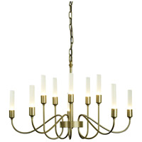 Hubbardton Forge 106030-1007 Lisse 10 Light 28 inch Soft Gold Chandelier Ceiling Light