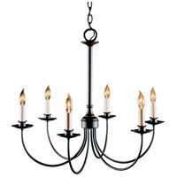 Hubbardton Forge 107060-1004 Simple Lines 6 Light 25 inch Black Chandelier Ceiling Light
