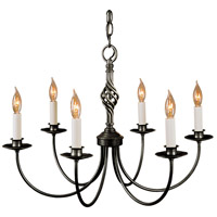 Twist Basket 6 Light 23 inch Natural Iron Chandelier Ceiling Light