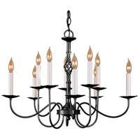 Hubbardton Forge 108100-1005 Twist Basket 10 Light 27 inch Natural Iron Chandelier Ceiling Light