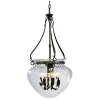Hubbardton Forge 121026-1002 Acharn 7 Light 17 inch Dark Smoke Foyer Pendant Ceiling Light Large