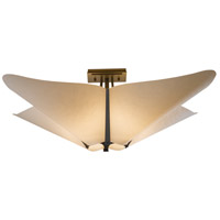 Hubbardton Forge 123305-1006 Kirigami 4 Light 23 inch Dark Smoke Semi-Flushmount Ceiling Light