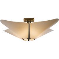 Hubbardton Forge 123305-1006 Kirigami 4 Light 23 inch Dark Smoke Semi-Flushmount Ceiling Light