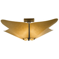 Hubbardton Forge 123305-1007 Kirigami 4 Light 23 inch Dark Smoke Semi-Flushmount Ceiling Light