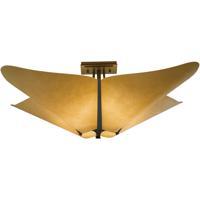 Hubbardton Forge 123305-1007 Kirigami 4 Light 23 inch Dark Smoke Semi-Flushmount Ceiling Light