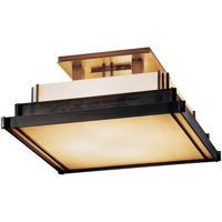 Hubbardton Forge 123705-1004 Steppe 4 Light 17 inch Dark Smoke Semi-Flushmount Ceiling Light, Small