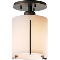 Hubbardton Forge 123775-1015 Exos 1 Light 6 inch Natural Iron Semi-Flushmount Ceiling Light Round