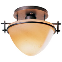 Hubbardton Forge 124247-1016 Moonband 1 Light 9 inch Natural Iron Semi-Flushmount Ceiling Light Small