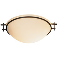 Hubbardton Forge 124251-1010 Moonband 1 Light 11 inch Natural Iron Semi-Flushmount Ceiling Light