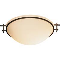 Hubbardton Forge 124251-1010 Moonband 1 Light 11 inch Natural Iron Semi-Flushmount Ceiling Light