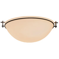 Hubbardton Forge 124252-1011 Moonband 3 Light 16 inch Natural Iron Semi-Flushmount Ceiling Light Large