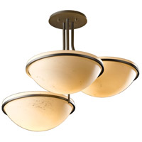Hubbardton Forge 124255-1007 Moonband 3 Light 20 inch Dark Smoke Semi-Flushmount Ceiling Light Triple Bowl