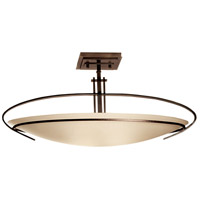 Hubbardton Forge 124341-1002 Mackintosh 2 Light 8 inch Dark Smoke Semi-Flushmount Ceiling Light