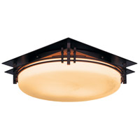 Hubbardton Forge 124394-1001 Banded 2 Light 14 inch Mahogany Semi-Flushmount Ceiling Light