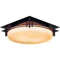 Hubbardton Forge 124394-1001 Banded 2 Light 14 inch Mahogany Semi-Flushmount Ceiling Light