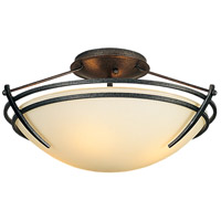 Hubbardton Forge 124412-1010 Presidio Tryne 2 Light 16 inch Natural Iron Semi-Flushmount Ceiling Light Small