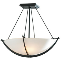Hubbardton Forge 124555-1008 Compass 3 Light 18 inch Black Semi-Flushmount Ceiling Light Small