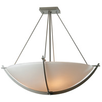 Hubbardton Forge 124560-1006 Compass 3 Light 27 inch Burnished Steel Semi-Flushmount Ceiling Light Large