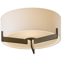 Hubbardton Forge 126401-1033 Axis 1 Light 12 inch Gold Flush Mount Ceiling Light