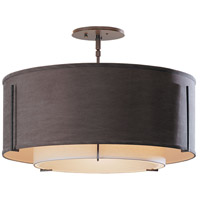 Hubbardton Forge 126503-1493 Exos 3 Light 23 inch Dark Smoke Semi-Flushmount Ceiling Light thumb