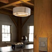 Hubbardton Forge 126503-1102 Exos 3 Light 23 inch Dark Smoke Semi-Flushmount Ceiling Light