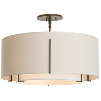 Hubbardton Forge 126503-1810 Exos 3 Light 23 inch Dark Smoke Semi-Flush Mount Ceiling Light thumb